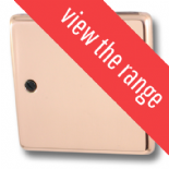 Standard Plate Bright Copper Toggle Light Switches